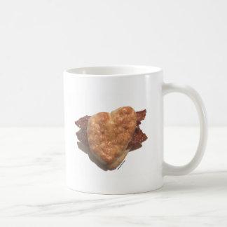 Galleta del tocino tazas de café