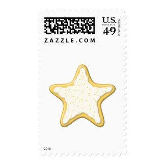 Galleta helada de la estrella Amarillo y blanco