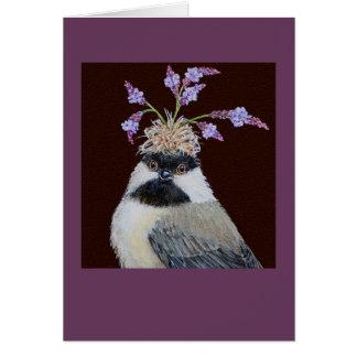 Galleta, la tarjeta del chickadee