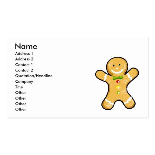 Galleta linda del hombre de pan de jengibre tarjeta de visita
