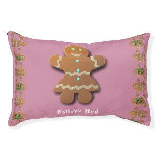 Galleta linda del pan de jengibre cama para perro pequeño