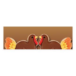 Galleta Placecard de Turquía de la acción de graci Plantillas De Tarjetas De Visita