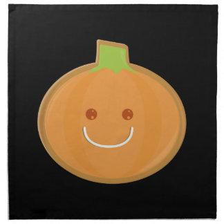 Galleta sonriente de la calabaza de Halloween Servilletas Imprimidas