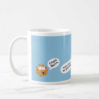 galleta taza básica blanca