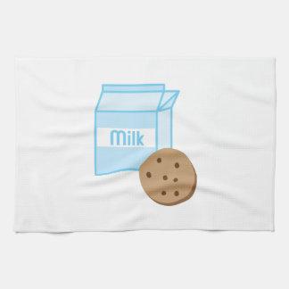 Galleta y leche toallas de mano