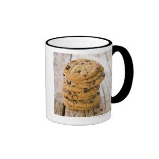 galletas 2 del microprocesador del chocolte taza de dos colores