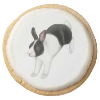 Galletas blancas negras del conejo de conejito que