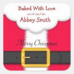 Galletas, caramelo, y invitaciones del navidad, pegatina cuadrada
