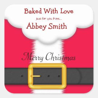 Galletas, caramelo, y invitaciones del navidad, colcomania cuadrada