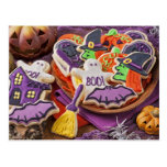 Galletas coloridas para el fiesta de Halloween Tarjetas Postales