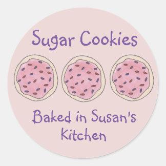 Galletas de azúcar cocidas cociendo al pegatina