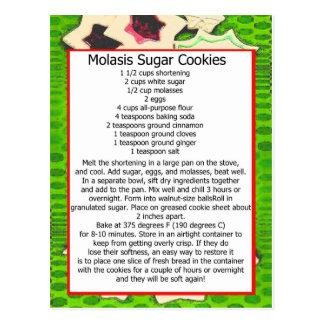 galletas de azúcar del molasis tarjetas postales