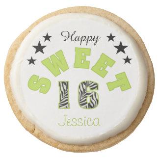 Galletas de azúcar personalizadas del dulce 16 de