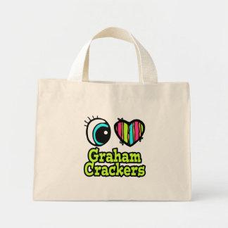 Galletas de Graham brillantes del amor del corazón Bolsa De Mano