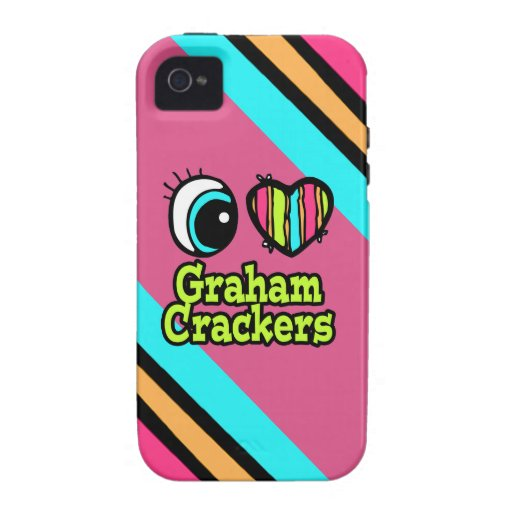 Galletas de Graham brillantes del amor del corazón iPhone 4/4S Funda