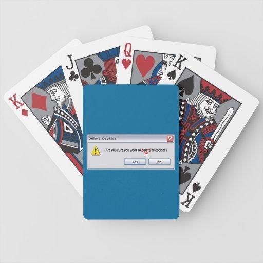 Galletas de la cancelación baraja cartas de poker
