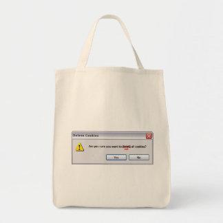 Galletas de la cancelación bolsa de mano