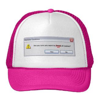 Galletas de la cancelación gorras