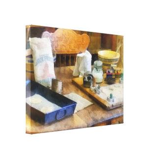 Galletas de la hornada lona estirada galerias