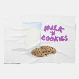 Galletas de la leche N Toallas De Mano