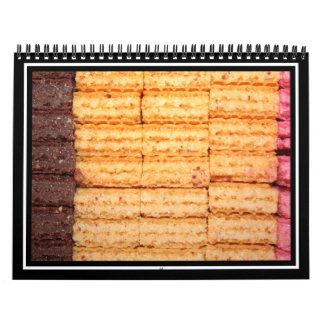 Galletas de la oblea del azúcar calendarios de pared