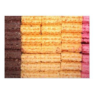 Galletas de la oblea del azúcar invitación 13,9 x 19,0 cm