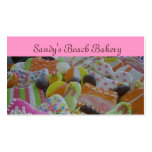 galletas de la playa plantillas de tarjetas de visita