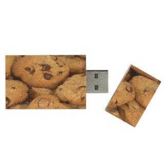 Galletas de los dulces de los postres del bocado memoria USB de madera