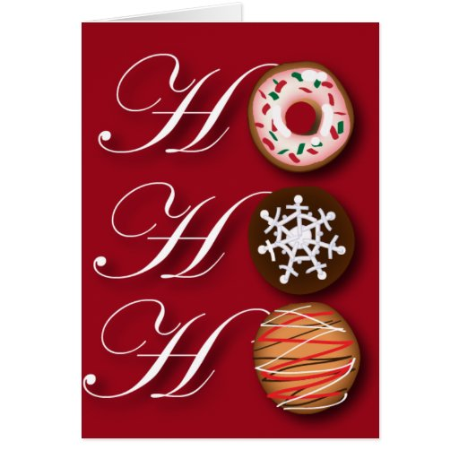 Galletas de lujo de Hohoho del navidad Tarjeta De Felicitación