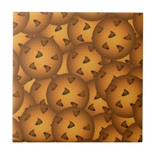 Galletas de microprocesador de chocolate azulejos ceramicos