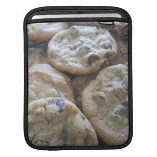 Galletas de microprocesador de chocolate mangas de iPad