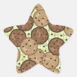 Galletas de microprocesador de chocolate pegatina forma de estrella personalizada
