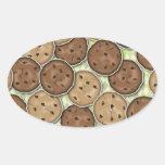 Galletas de microprocesador de chocolate pegatina de ovaladas
