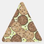 Galletas de microprocesador de chocolate calcomanías de trianguloes personalizadas