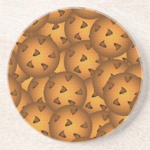 Galletas de microprocesador de chocolate posavasos cerveza