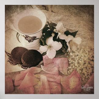 Galletas de n del té 'en Matt pesado archival Posters