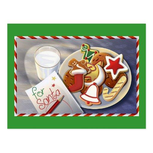 galletas de Navidad Postales