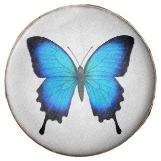 Galletas de Oreo azules de la mariposa de Ulises