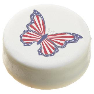Galletas de Oreo patrióticas de la mariposa