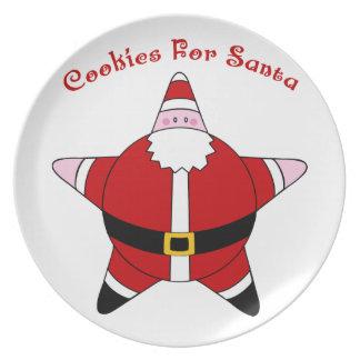 Galletas de Papá Noel de la estrella de la diversi Platos De Comidas