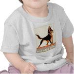 Galletas de perro de la publicidad del vintage camiseta