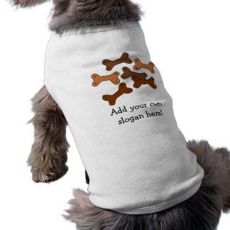 Galletas de perro del hueso: Lema adaptable Camiseta De Perro