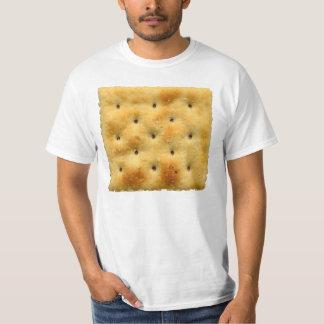 Galletas de soda blancas del Saltine Camisas