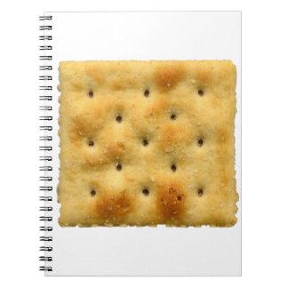 Galletas de soda blancas del Saltine Spiral Notebook