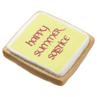 Galletas de torta dulce felices del solsticio de