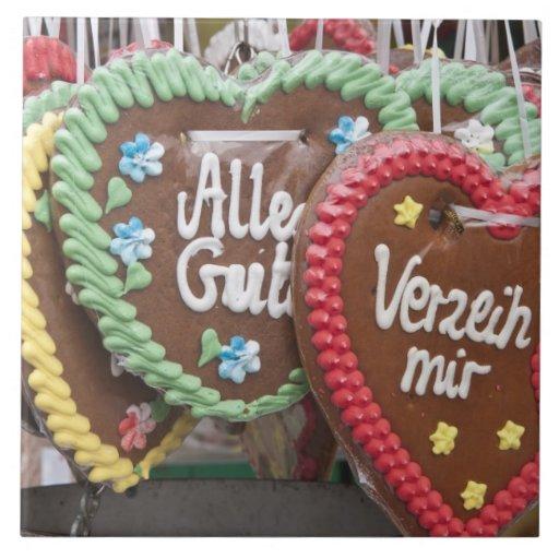 Galletas decorativas del pan de jengibre azulejo cuadrado grande