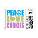 Galletas del amor de la paz sello