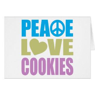 Galletas del amor de la paz tarjeton