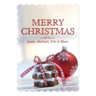 """Galletas del canela con la decoración del navidad invitación 5"""" x 7"""""""