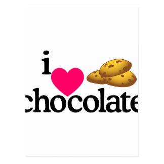 Galletas del chocolate del amor tarjeta postal